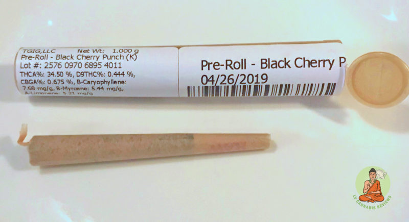 Black Cherry Punch Pre Roll and Packaging