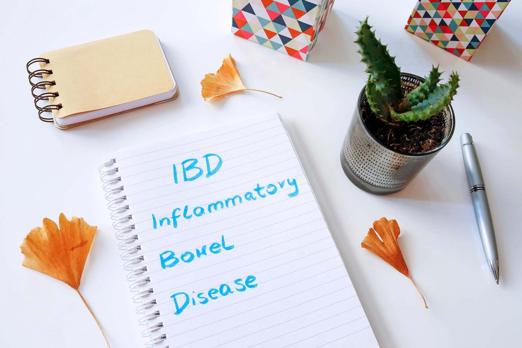 IBD Inflammatory Bowel Disease written in notebook