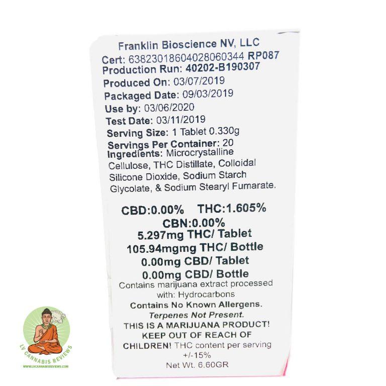 Altus 5MG THC tablets Review Inyo Dispensary January 2020