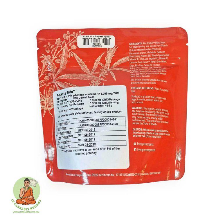 Cinnamon Cereal Treat Info
