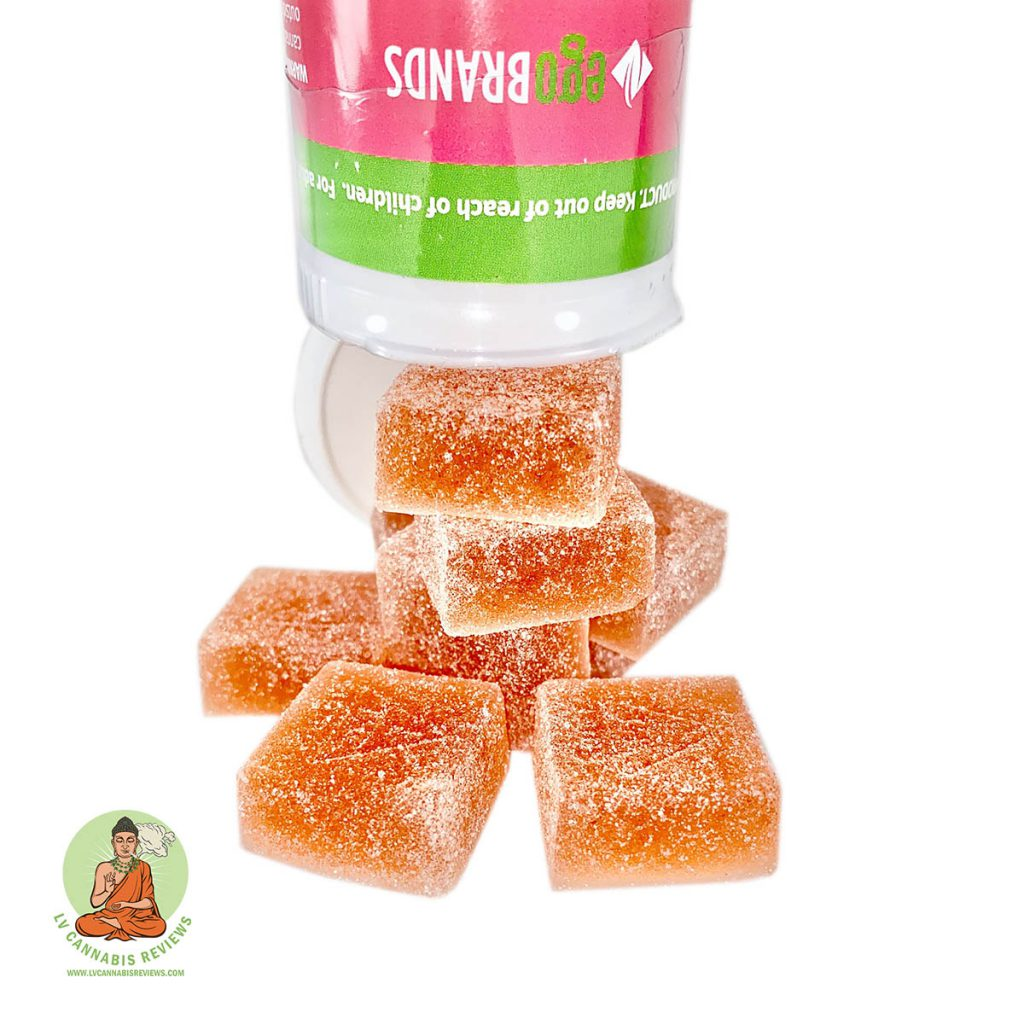 Evergreen Organix Watermelon Gummies 100mg Review Essence Cannabis Dispensary February 2020