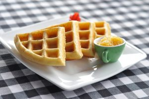 These Cheddar & Onion Cannabis Keto Waffles Are Incredible
