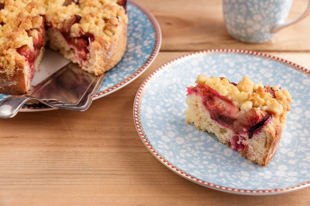 Step-By-Step Recipe For THC Plum Coffee Cake