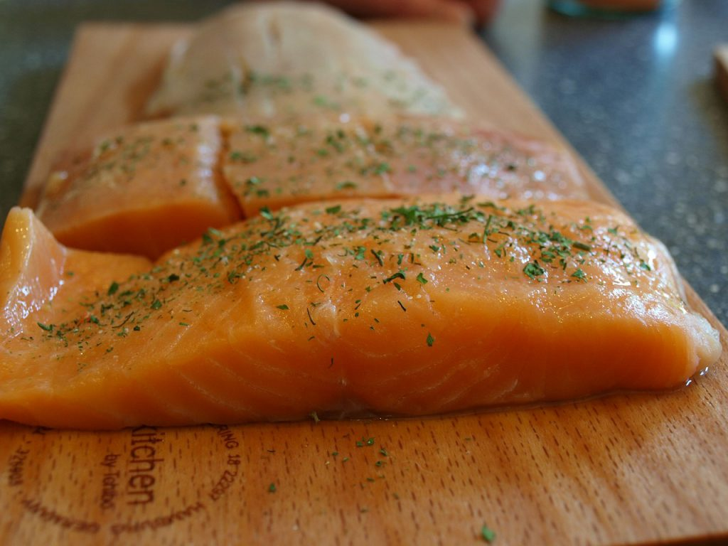 Super Easy Recipe For Ganja Grilled Salmon With Pot Pesto Crust